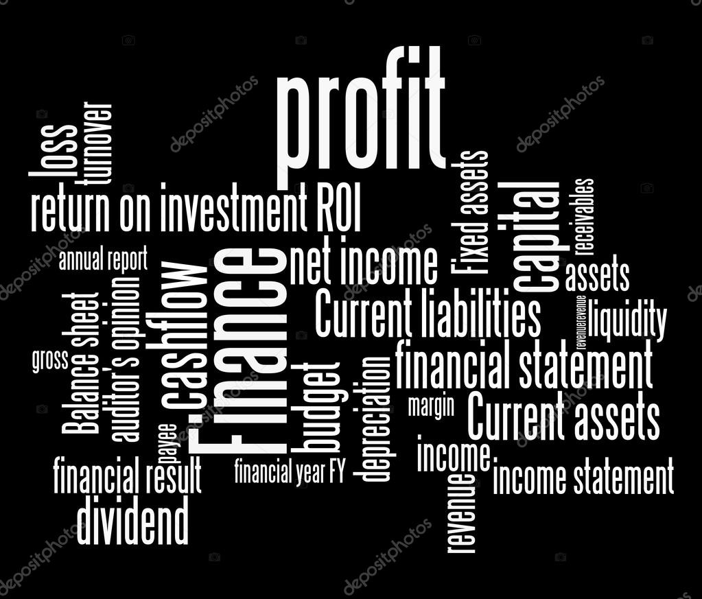 Finance Words: Finance Terms And Lingo Info Text Graphics And Arrangement