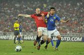 Manchester United vs Malaysia XI on July 20, 2009, Kuala Lumpur. — Stock Photo