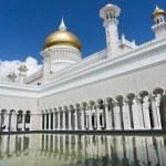 Постер, плакат: Ablution place Masjid Sultan Omar Ali Saifuddin Mosque in Bandar