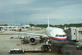 KUALA LUMPUR INTERNATIONAL AIRPORT - JUNE 22: Malaysia Airlines  — Stock Photo