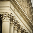 Stock Photo: Detail Of National Archives Building In Washington DC