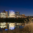 Rosslyn Virginia From The Boardwalk In Georgetown, Washington DC - Stock Photo