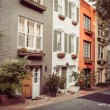 Townhouses In Georgetown, Washington DC - Stock Photo
