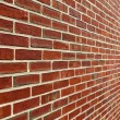 Brick Wall With Diminishing Perspective — Stock Photo