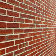 Stock Photo: Brick Wall With Diminishing Perspective