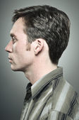 Caucasian Man Profile Portrait — Stock Photo
