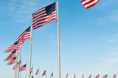 Ring Of US Flags — Stock Photo