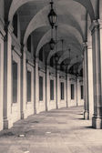 Curved Arcade At The EPA Building In Washington DC — Stock Photo