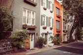 Townhouses In Georgetown, Washington DC — Stock Photo