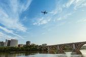 罗斯林弗吉尼亚与弗朗西斯 · 斯科特 · 键桥 — 图库照片