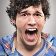 Caucasian Man Screaming Portrtait — Stock Photo #24007401