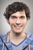 Uomo caucasico sorridente felicità portrtait — Foto Stock