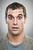 καυκάσιος άνθρωπος ανησυχούν έκφραση portrtait — Φωτογραφία Αρχείου