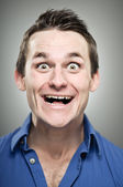 Caucasian Man Extreme Excitement Portrait — Stock Photo