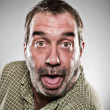 Mature Caucasian Man Sticking Out Tongue Portrait — Stock Photo