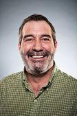 Mature Caucasian Man Smiling Portrait — Stock Photo