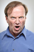 Mature Caucasian Man Yelling Angrily — Stock Photo