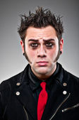Young Man Dressed As An Emo Goth. — Foto Stock