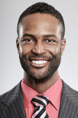 Expresión feliz hombre afroamericano — Foto de Stock