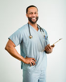 Smiling Doctor or Male Nurse Portrait — Stock Photo
