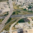 Freeway Interchange Aerial View - Stock Photo