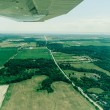 Flying over the countryside - Stock Photo