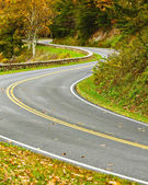 S-Curved Road On Skyline Drive — Stock Photo