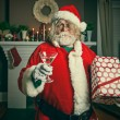 Bad Santa Getting Wasted On Christmas — 图库照片