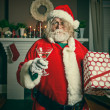 Bad Santa Getting Wasted On Christmas — Stock Photo