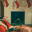 Drunk and Passed Out Santa Claus — Stock Photo #24937661
