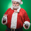 Stock Photo: Bad Santa WIth A Martini And Cigar