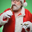 Bad Santa WIth A Martini And Cigar - Stock Photo