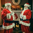 Good and Bad Santa's — Stock Photo