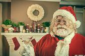 Bad santa krijgen verspild op kerstmis — Stockfoto
