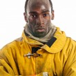 African American Firefighter — Stock Photo