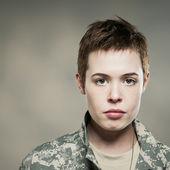 Female Fashion Soldier — Stock Photo