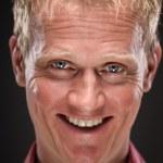 Creepy Caucasian Man smilling — Stock Photo