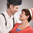 Soldier and his girlfriend — Stock Photo #26945823