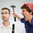 Womyelling at man — Stock Photo #26946019