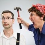 Woman yelling at man — Stock Photo