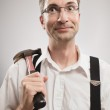 Crazy Handyman — Stock Photo