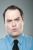Business Pucker Face — Stock Photo