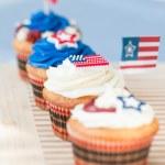 独立記念日カップケーキ — ストック写真