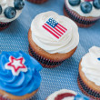 Fourth Of July Cupcakes — Zdjęcie stockowe