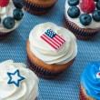 vierde van juli cupcakes — Stockfoto