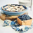 Stock Photo: Blueberry Pie