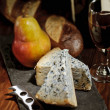 Stock Photo: Bleu Cheese and Port Wine