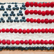 Stock Photo: US Flag Fourth Of July Cake