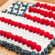 US Flag Fourth Of July Cake — Stock Photo