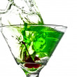 Stock Photo: Apple Martini Splash